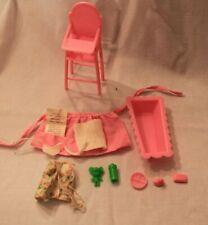 Barbie Babysits Set Pieces 1976 Bathtub High Chair Accessories A3L
