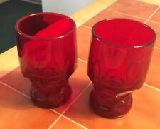 Set Of Two Ruby Red Goblets/ Glasses Never Used Lovely!