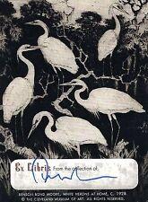 Edward Albee signed Ex Libris Benson Bond Moore bookplate / autograph
