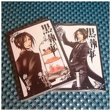 Kuroshitsuji Black Butler Comic Manga vol.1-2 Original + Bonus / Bookmark / Ciel