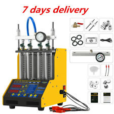 Ultrasonic Car Fuel Injector Tester Cleaner 4-Cylinder for Petrol Car Motorcycle
