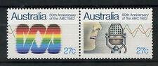 Australia 1982 SG # 847-8, cinquantesimo anniv di ABC MNH COPPIA SET #A 76659