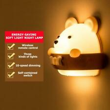 Bear Shape Bedroom Energy Saving Night Lamp Remote Control Corridor Wall Light