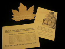 WWII soldier publication British Canadian invasion German soldier copies #E321