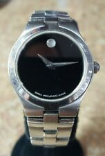 Movado 84 E4 1844 Women's Museum Stainless Steel Quartz Watch Pre-owned