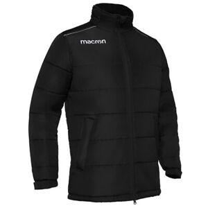 New Macron Ushuaia Padded Rain Jacket - Warm Kids Quilted Coat (Black) 3XS 5-6yr