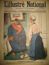 L'ILLUSTRé NATIONAL N° 18 HUMOUR CARICATURE DESSINS GERBAULT LEBEGUE 1903