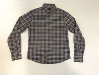UNTUCKit Mens Small Slim Fit Plaid Flannel Blue Gray Long Sleeve Button Up