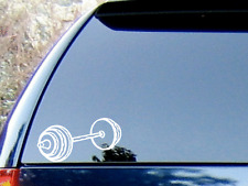 Weighted Barbell Vinyl Decal Sticker - Color Choice - HIGH QUALITY