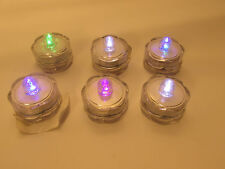 LED Flameless battery tea lights LOT of 6 with color changing bulbs
