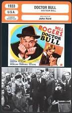 DOCTOR BULL - Rogers,Nixon,Allen,John Ford (Fiche Cinéma) 1933
