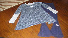 NAARTJIE KIDS SZ M 5 YEARS BLUE TOP PANTS SET SISTERS