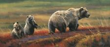 Autumn Outing by Edward Aldrich Wildlife Bear Print 25.5x11