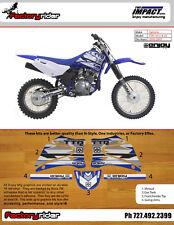 Yamaha TTR 125 2000-2007 Dirt Bike Impact Graphics KIT Enjoy MFG Fast SHIPPING