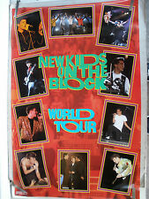Rare New Kids On The Block World Tour 1990 Vintage Original Music Poster
