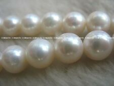 """freshwater pearl round AAA high luster 9-10mm 15"""" loose beads"""