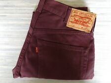 Men's LVC 519 Slim Fitting Big E Bedford Burgundy Jeans Styled Cords W31 L32