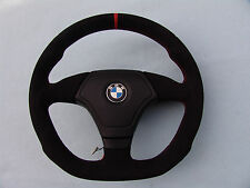 BMW E36 M3 EURO SPORTS STEERING WHEEL, FLAT BOTTOM,  ERGONOMIC INLAYS, ALCANTARA
