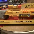 NERF N-Strike Icon Series 3 in 1 Sniper Longshot CS-6 Toy Blaster Yellow 3 Feet