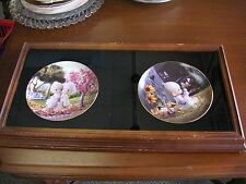 "Precious Moments Framed Plates I Believe in Miracles, Love One Another 24""l #26"