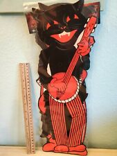 Halloween Beistle Set of 4 Repro 1941 17in. Black Cats Cut Outs 2012 Limited