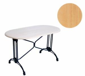 Werzalit Tischplatte oval 120x65 Buche Garten Tisch Gastronomie Möbel wetterfest