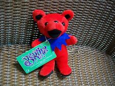 "1ST EDITION NWT COLLECTIBLE NEW PLUSH Grateful Dead Bean Bear ""BERTHA"" RED L@@K"