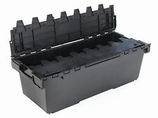 2 x BRAND NEW EXTRA LARGE Plastic Crates Storage Box Containers 125L Black