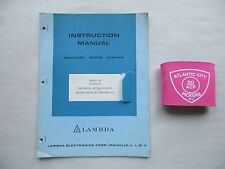 Lambda  00004000 Model Lm A Package Regulated Power Supplies Instruction Manual
