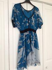 Warehouse Blue White Dress Size 10