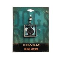 Dogs Rock Mutt Dog Charm with Lobster Clasp - Double-Sided