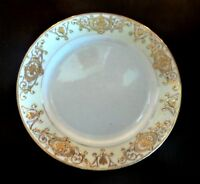 Vintage Noritake 175 Salad/Luncheon Plates x1 Gold Flowers Moriage Scrolls