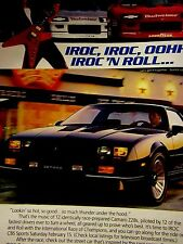 "1986 Camaro IROC Z Original Print Ad-IROC N ROLL CAMARO -8.5 x 10.5 """