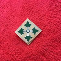 US ARMY 4TH INFANTRY DIVISION HAT/LAPEL PIN
