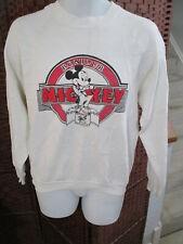 Vintage Mickey Mouse Sweatshirt French BONJOUR Size Adult Large