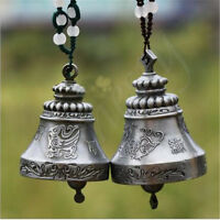 2XTraditional Chinese Vintage classic Dragon Phoenix Wind Chime Bell ornaments