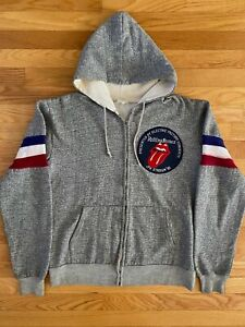 VTG RARE 1981 The Rolling Stones Crew Sweatshirt Hoodie JFK Stadium Philadelphia