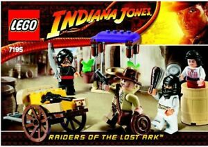 LEGO INDIANA JONES AMBUSH IN CAIRO #7195 ALL 4 FIGURES 100% COMPLETE GUARANTEE