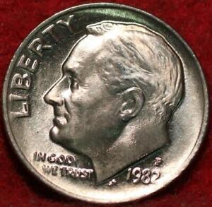Uncirculated 1982 Philadelphia Mint Clad Roosevelt Dime