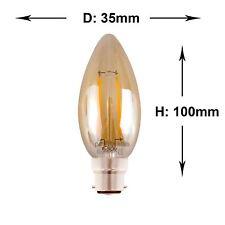E14/B22/E27 LED Filament Decorative Antique 2W/4W Amber Glass Light Bulbs Lamp