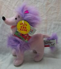 """PBS Clifford the Big Red Dog CLEO PURPLE POODLE DOG 6"""" Plush STUFFED ANIMAL Toy"""