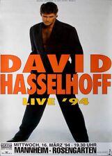 HASSELHOFF, DAVID - 1994 - Konzertplakat - LIve - Tourposter - Mannheim