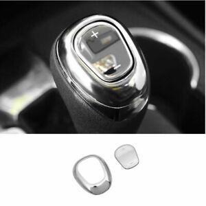 For Chevrolet Equinox 2018-2020 Steel Silver Console Gear Shift Knob Cover Trim