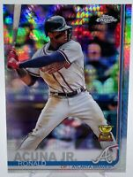 Ronald Acuna Jr. 2019 Topps Chrome Prism Refractor Gold Rookie Cup BRAVES HOT