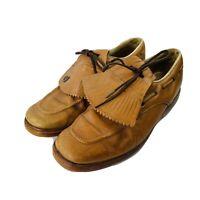 Endicott Johnson Vintage Brown Golf Shoe Men's Size 12 Champ Cleats