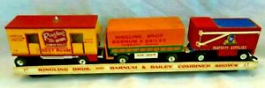 RINGLING-BROS. & BARNUM & BAILEY CIRCUS,4 MODEL TRAIN CARS,REST ROOMS,ETC....