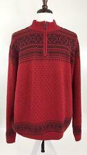 Chaps Ralph Lauren Mens 2XL Red/Navy Fair Isle Mock Turtleneck Sweater WD