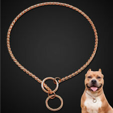 Stainless Steel Curb Chain Large Dog Trainning Collar Choker for Pitbull Boxer