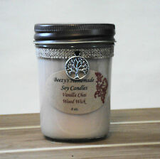 8 oz. Vanilla Chai Handmade Natural Soy Wood Wick Cream Candle