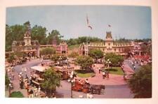 Vintage DISNEYLAND Postcard Main Street Town Square 1960s Unused Color